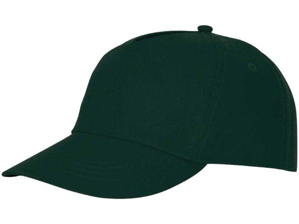 Бейсболка полувелюр цвет темно-зеленый