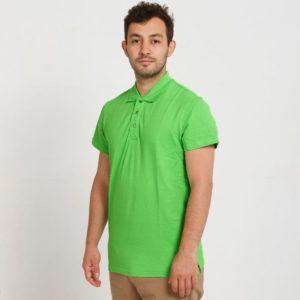 Рубашка поло Премиум с манжетами, цвет лайм