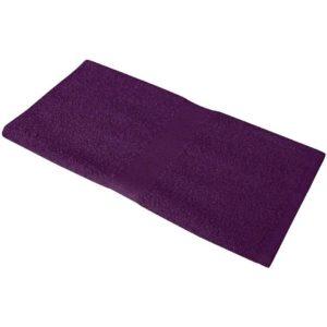 Полотенце махровое 50*90, цвет слива