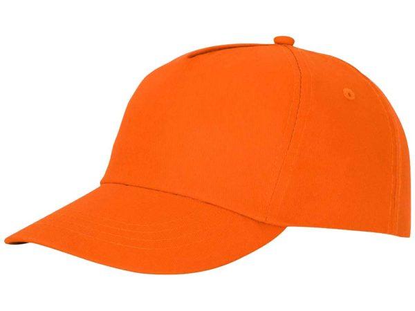Бейсболка полувелюр цвет оранжевый