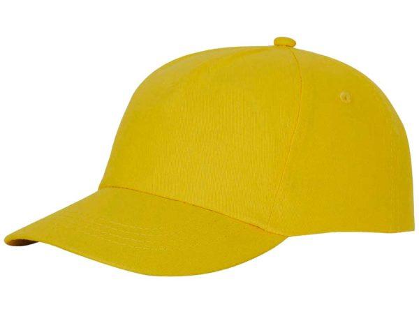 Бейсболка полувелюр цвет желтый