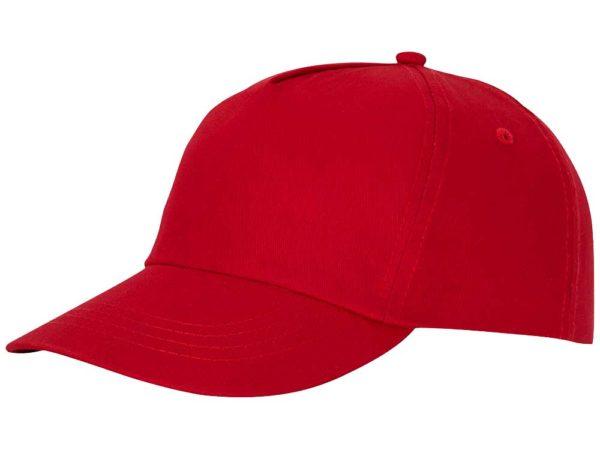 Бейсболка полувелюр цвет красный