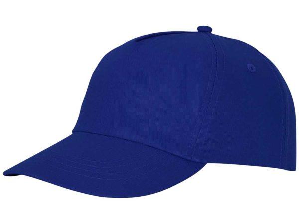 Бейсболка полувелюр цвет синий